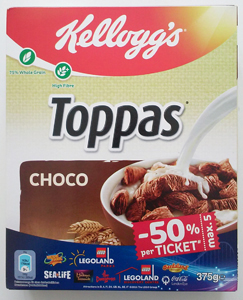 Kellogg's Toppas choco 375g