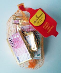 Albert Premier Geldscheine aus Schokolade 100g