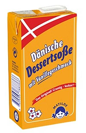 Dänische Dessertsoße 'Matilde' mit Vanillegeschmack 500ml