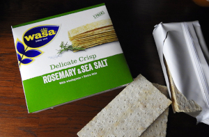 1- Wasa Delicate Crisp Rosemary & Sea Salt 190g