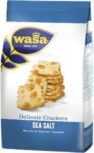 Wasa Delicate Crackers Sea Salt 180g