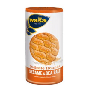 Wasa Delicate Rounds Sesame & Sea Salt 235g