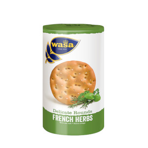 1- Wasa Delicate Rounds French Herbs 235g