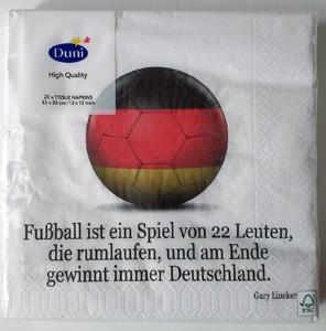 Duni Fussballservietten Fußballfieber 20 Stk.