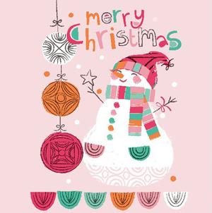 Duni Weihnachtsservietten Happy Snowman 20 Stk. (33cm x 33cm)