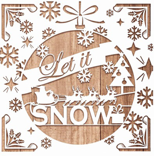 Duni Weihnachtsservietten Let it snow 20 Stk. (33cm x 33cm)