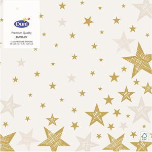 Duni Weihnachtsservietten Shining Star Cream 20 Stück 33 x 33cm