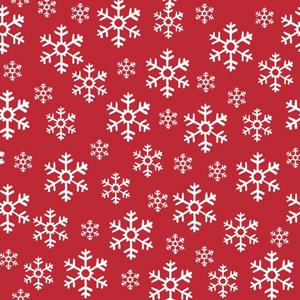 Duni Weihnachtsservietten Red Snowflakes 20 Stück 33 x 33cm