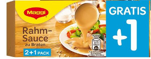 1- Maggi Rahm Sauce zu Braten 2+1 Pack/ 750ml