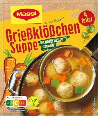 Maggi Guten Appetit Griessklösschen Suppe 4 Teller für 1Liter
