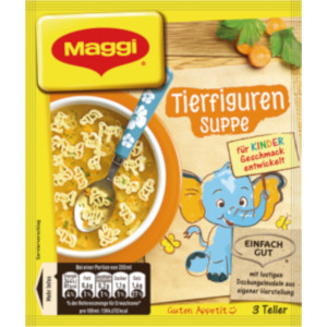 Maggi Tierfiguren Suppe 3 Teller für 750ml