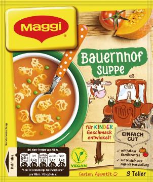 Maggi Bauernhof Suppe 3 Teller für 750ml