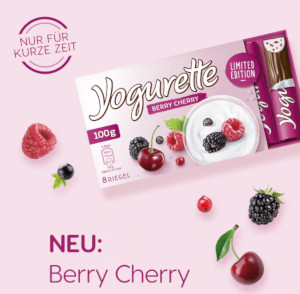Ferrero Yogurette Berry Cherry 100g für 8 Stück