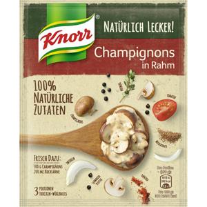 Knorr Natürlich Lecker Champignons in Rahm 30g für 3 Portionen