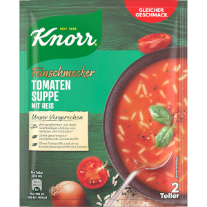 Knorr Feinschmecker Tomaten Reis Suppe 49g für 500ml