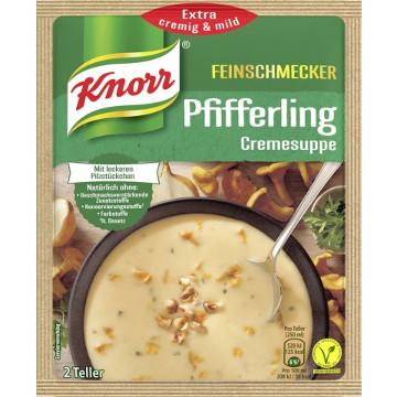 Knorr Feinschmecker Pfifferlingcreme Suppe 56g für 2 Teller