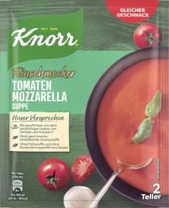Knorr Feinschmecker Tomaten Mozzarella Suppe 64g für 500ml