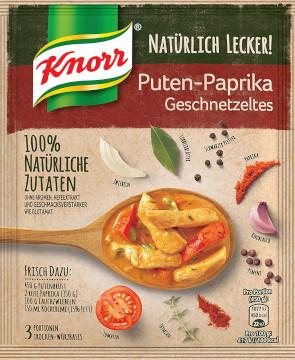Knorr Natürlich Lecker Puten-Paprika Geschnetzeltes 58g