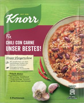 Knorr Fix Chili Con Carne Unser Bestes ! 49g für 3 Portionen