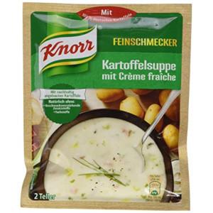 Knorr Feinschmecker Kartoffelsuppe mit Crème fraîche 70g für 2 Tell