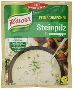 Knorr Feinschmecker Steinpilz Cremesuppe 67g für 2 Teller
