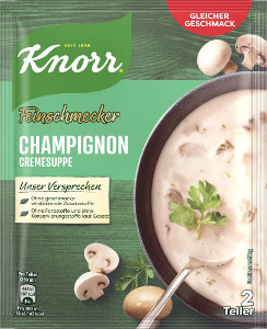 Knorr Feinschmecker Champignoncreme Suppe 45g für 500ml