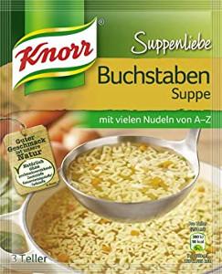 Knorr Suppenliebe Buchstaben-Suppe 3 Teller für 750ml