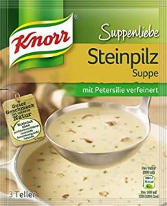 Knorr Suppenliebe Steinpilz Suppe 3 Teller 56g für 750ml