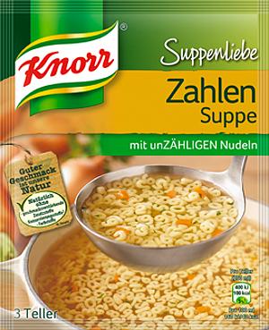 Knorr Suppenliebe Zahlen Suppe 84g für 3 Teller für 750ml
