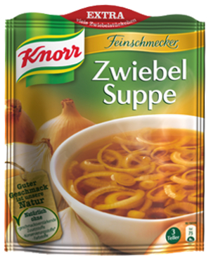 Knorr Feinschmecker Zwiebel Suppe 3 Teller