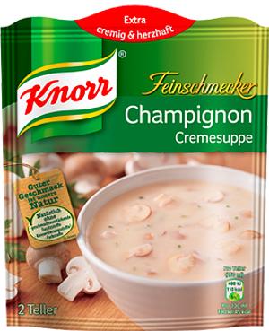 Knorr Feinschmecker Champignoncreme Suppe 2 Teller