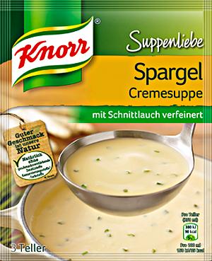 Knorr Suppenliebe Spargelcreme Suppe 58g für 3 Teller