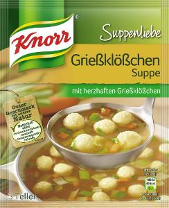 Knorr Griessklösschen Suppe 3 Teller 36g