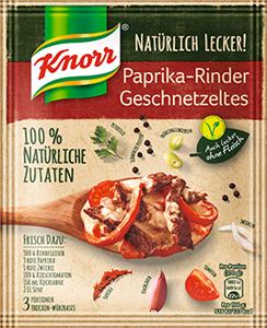 Knorr Natürlich Lecker! Paprika-Rinder Geschnetzeltes 31g (3Portionen