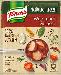 Knorr Natürlich Lecker! Würstchen Gulasch 53g (3 Portionen)