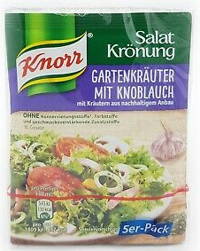 Knorr Salat Krönung Gartenkräuter mit Knoblauch 5er x 8g
