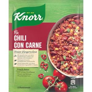 Knorr Fix Chili con carne 33g für 2 Portionen