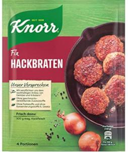 Knorr Fix Für Hackbraten 70g für 4 Portionen