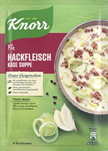 Knorr Fix Hackfleisch Käse Suppe 58g für 4 Portionen