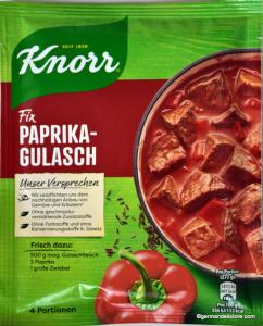 Knorr Fix Paprika-Gulasch 48g für 4 Teller