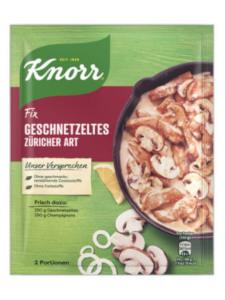 Knorr Fix Geschnetzeltes Züricher Art 36g für 2 Portionen