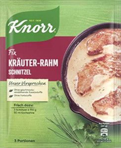 Knorr Fix Kräuter-Rahm Schnitzel 47g für 3 Portionen