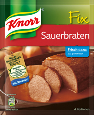 Knorr Fix Sauerbraten 37g pour 4 Portionen
