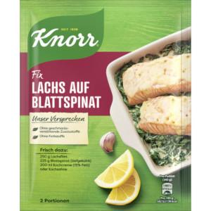 Knorr Fix Lachs auf Blattspinat 28g für 2 Portionen