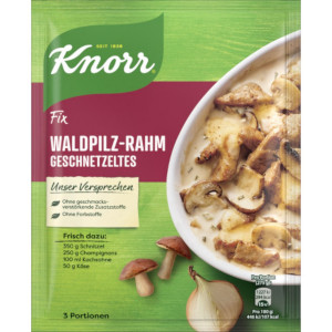 Knorr Fix Waldpilz-Rahm Geschnetzeltes 40g für 3 Portionen