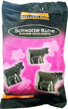 Hollands Best Schwarze Kühe Weicher Salzlakritz 400g