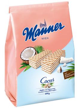 2- Manner Cocos (Waffeln mit Kokoscreme) 400g