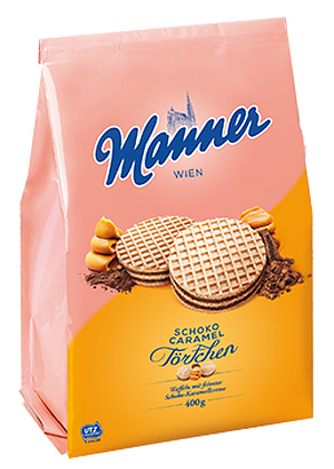 Manner Schoko Caramel Törtchen (400g)