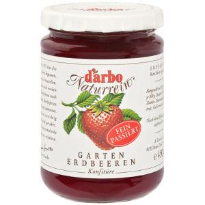 D'arbo Naturrein Garten Erdbeeren Konfitüre (fein passiert) 450g