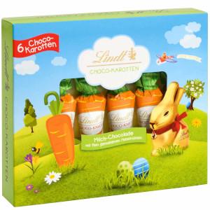 3- Lindt Die Original Choco-Karotten aus feiner Milchschokolade 81g
